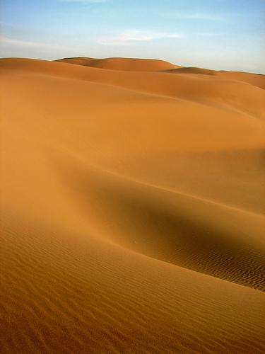 フリー画像| 自然風景| 砂漠の風景| カビール砂漠| イラン風景|