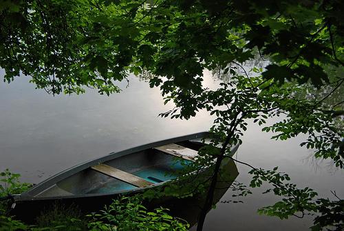 フリー画像| 人工風景| 船舶/ボート| 河川の風景| 緑色/グリーン| ドナウ川|