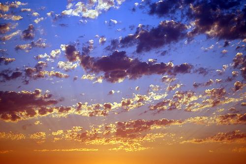 フリー画像| 自然風景| 空の風景| 雲の風景| 夕日/夕焼け/夕暮れ|