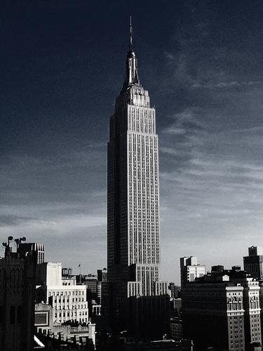 フリー画像| 人工風景| 建造物/建築物| ビルディング| 街の風景| エンパイアステートビル| アメリカ風景| ニューヨーク|
