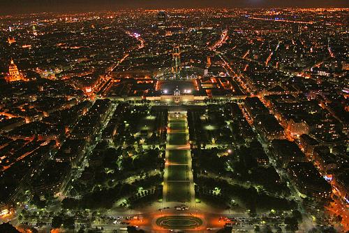 フリー画像| 人工風景| 建造物/建築物| 街の風景| 夜景| フランス風景| パリ|