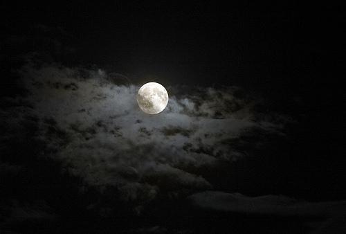 フリー画像| 自然風景| 空の風景| 月の風景| 夜空の風景| 夜景|