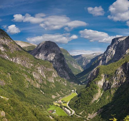 フリー画像  自然風景  山の風景  HDR画像  ノルウェー風景 