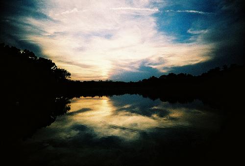 フリー画像| 自然風景| 湖の風景| 夕日/夕焼け/夕暮れ| アメリカ風景| イリノイ州|