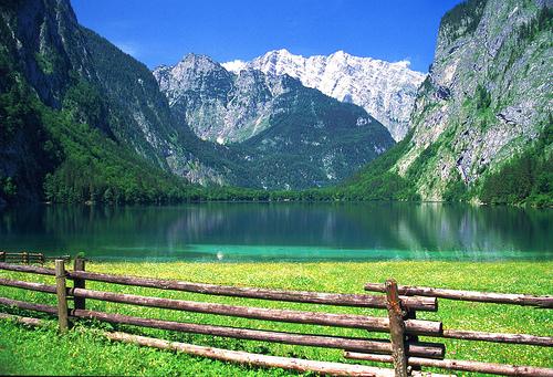 フリー画像| 自然風景| 山の風景| 湖の風景| 緑色/グリーン| ドイツ風景|