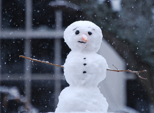 フリー画像| 人工風景| 雪だるま| 雪景色| 粉雪|