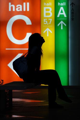 フリー画像| 人物写真| 女性ポートレイト| シルエット| 見上げる| 夜景|