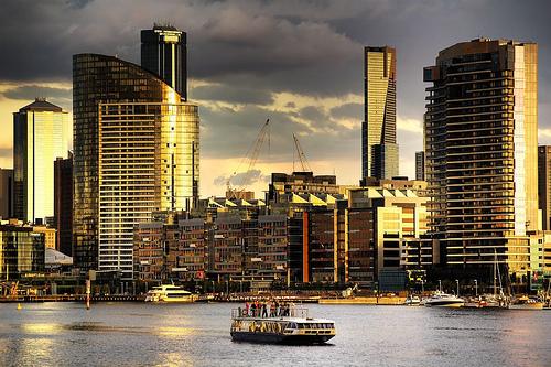 フリー画像  人工風景  建造物/建築物  街の風景  ビルディング  オーストラリア風景  メルボルン 