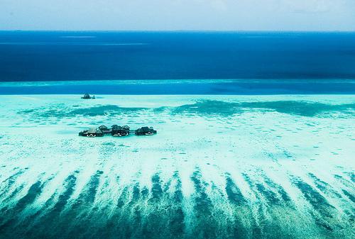 フリー画像| 人工風景| 島の風景| モルディブ| 青色/ブルー|
