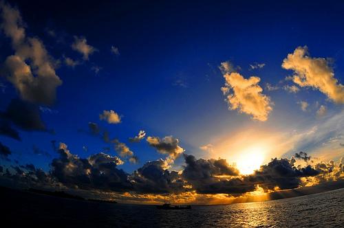 フリー画像| 自然風景| 空の風景| 夕日/夕焼け/夕暮れ|