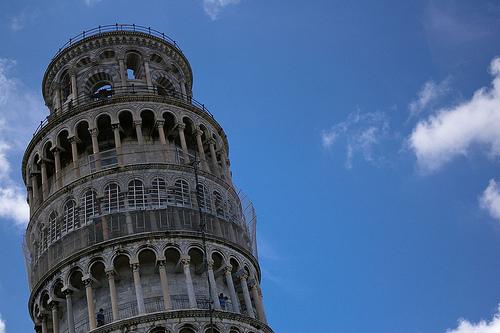 フリー画像| 人工風景| 建造物/建築物| ピサの斜塔| 塔/タワー| 世界遺産/ユネスコ| イタリア風景|