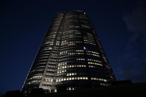 フリー画像| 人工風景| 建造物/建築物| ビルディング| 夜景| 日本風景| 六本木ヒルズ| 東京|