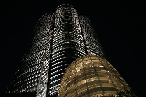フリー画像| 人工風景| 建造物/建築物| ビルディング| 夜景| 六本木ヒルズ| 日本風景| 東京| 黒色/ブラック|