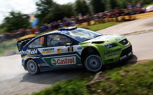 フリー画像| 自動車| ラリーカー| フォード/Ford| フォード フォーカス| Ford Focus| WRC/世界ラリー選手権| ドリフト| アメ車|
