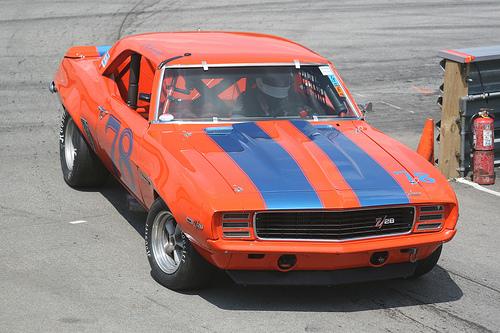 フリー画像| 自動車| スポーツカー| シボレー/Chevrolet| シボレー カマロ| 1969 Chevrolet Camaro Z28| アメ車|