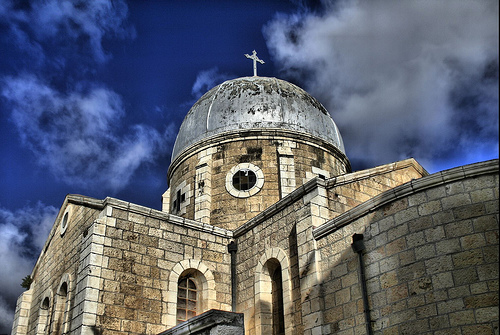 フリー画像| 人工風景| 建造物/建築物| 教会/聖堂| アルメニア教会/聖堂| レンガ造り| イスラエル風景| エルサレム|