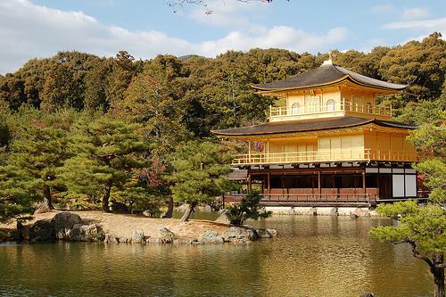 フリー画像| 人工風景| 建造物/建築物| 神社/仏閣/寺院| 金閣寺| 日本風景| 京都|