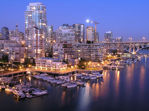 フリー画像  人工風景  街の風景  ビルディング  カナダ風景  バンクーバー 