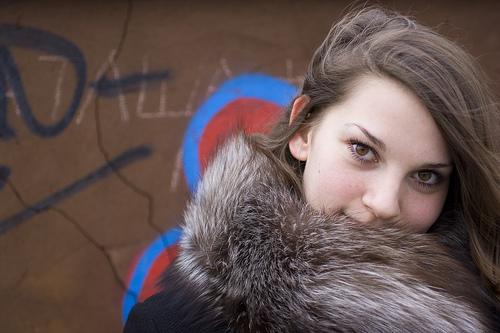 フリー画像| 人物写真| 女性ポートレイト| 白人女性| コート|
