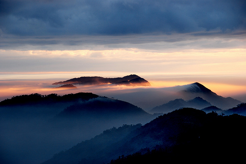 フリー画像| 自然風景| 山の風景| 霧/靄| 台湾風景|