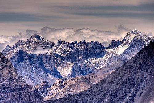 フリー画像| 自然風景| 山の風景| HDR画像| フランス風景| アルプス山脈|