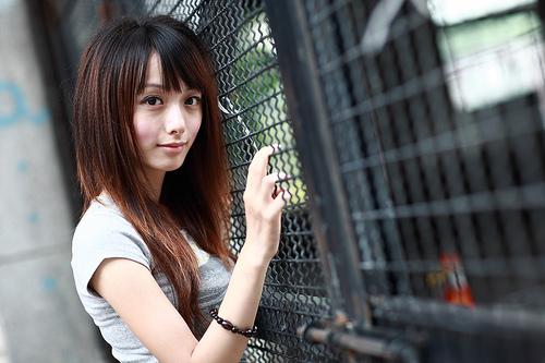 フリー画像| 人物写真| 女性ポートレイト| アジア女性| 台湾人| Tシャツ|