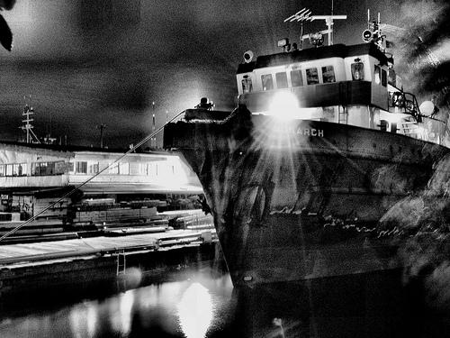 フリー画像| 船舶/ボート| モノクロ写真| アメリカ風景|