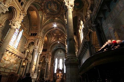 フリー画像| 人工風景| 建造物/建築物| 教会/聖堂| インテリア| フランス風景|