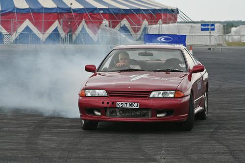 フリー画像  自動車  スポーツカー  日産/Nissan  日産 スカイライン  Nissan Skyline GT-R R32  ドリフト  日本車 