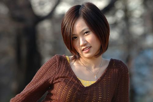 フリー画像| 人物写真| 女性ポートレイト| アジア女性| ショートヘアー| 「ニット|