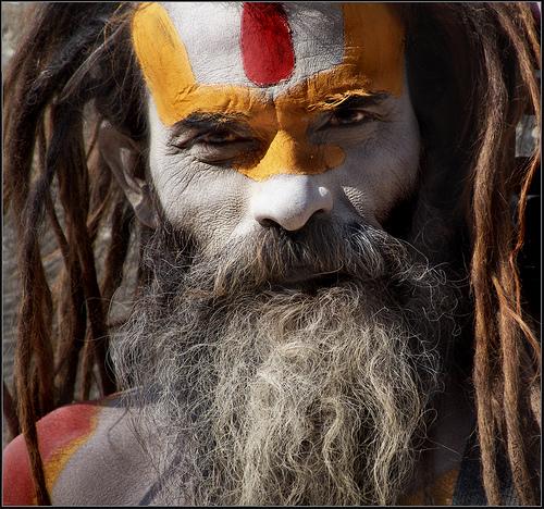 フリー画像| 人物写真| 一般ポートレイト| ヨガマスター| インド人|
