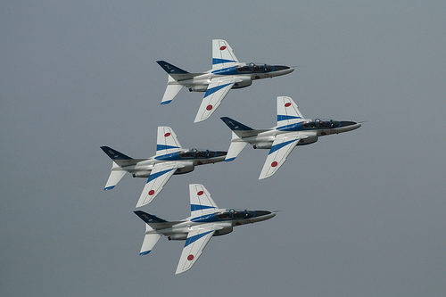 フリー画像| 航空機/飛行機| ブルーインパルス| T-4|