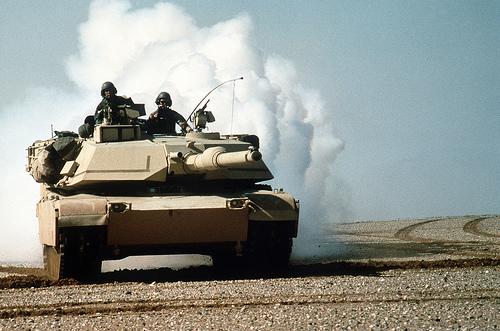 フリー画像| 自動車| 戦車| M1 エイブラムス| M1A1 Abrams|