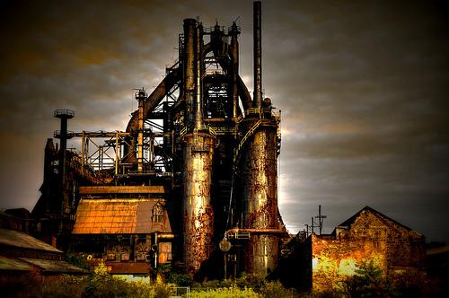フリー画像| 人工風景| 建造物/建築物| 工場の風景| HDR画像| アメリカ風景|