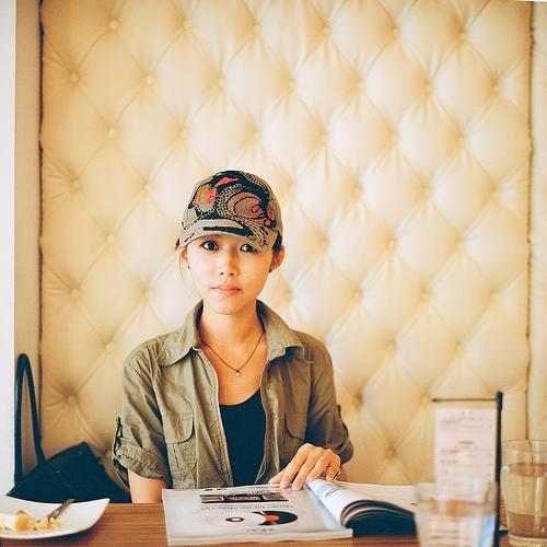 フリー画像| 人物写真| 女性ポートレイト| アジア女性| 帽子| 台湾人|