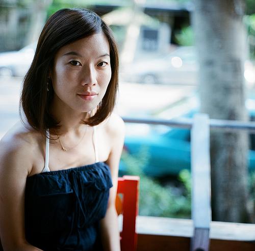 フリー画像| 人物写真| 女性ポートレイト| アジア女性| ワンピース| 台湾人|