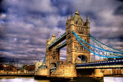 フリー画像| 人工風景| 建造物/建築物| 橋の風景| タワーブリッジ| イギリス風景| ロンドン| HDR画像|