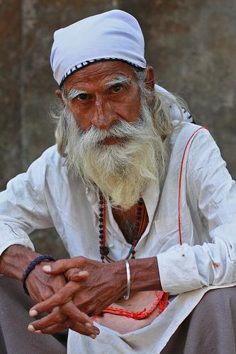 フリー画像| 人物写真| 一般ポートレイト| 老人/お年寄り| おじいさん/おじいちゃん|  インド人|