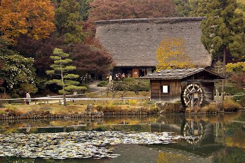 フリー画像| 人工風景| 建造物/建築物| 家/ハウス| 日本家屋| 日本風景|      フリー素材|