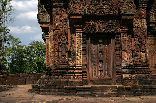 フリー画像  人工風景  建造物/建築物  アンコール遺跡  アンコールワット  世界遺産/ユネスコ  カンボジア風景      フリー素材 