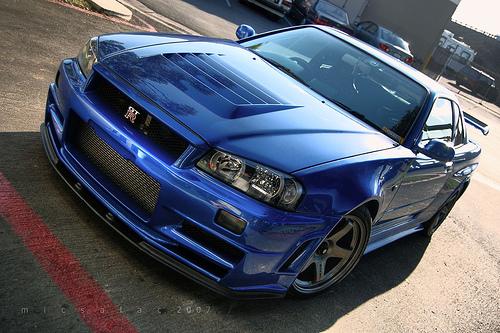フリー画像  自動車  スポーツカー  日産/Nissan  日産 スカイライン  Nissan Skyline GT-R R34  日本車      フリー素材 