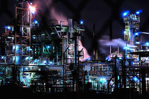 フリー画像| 人工風景| 建造物/建築物| 工場の風景| 夜景| オーストラリア風景|      フリー素材|