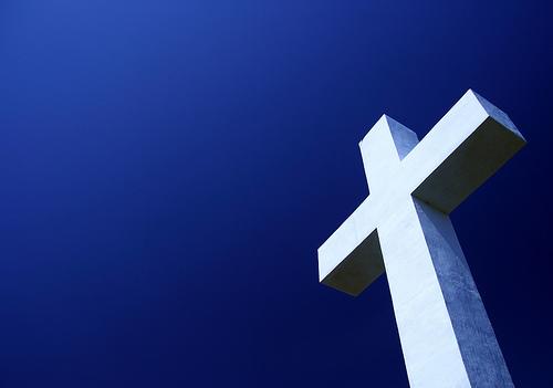 フリー画像| 人工風景| 十字架| 青色/ブルー|        フリー素材|