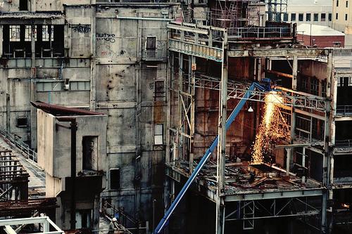 フリー画像| 人工風景| 建造物/建築物| 工事現場| 工場の風景| オーストラリア風景|      フリー素材|