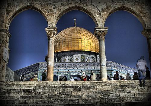 フリー画像| 人工風景| 建造物/建築物| 岩のドーム| エルサレム|       フリー素材|
