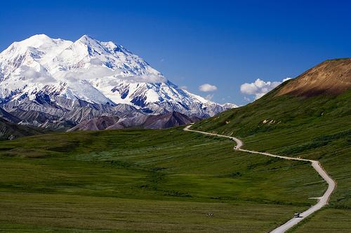 フリー画像| 自然風景| 山の風景| 道の風景| デナリ/マッキンリー| アメリカ風景| アラスカ州|     フリー素材|