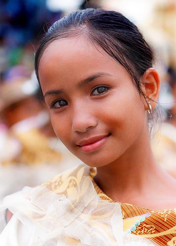 フリー画像| 人物写真| 子供ポートレイト| 少女/女の子| 外国の子供| フィリピン人| セブ島|