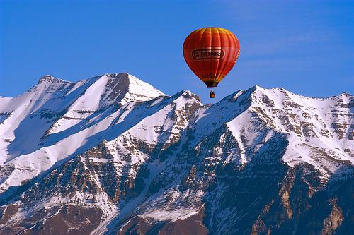 フリー画像| 自然風景| 山の風景| 気球/バルーン| ティンパノゴス山| アメリカ風景|