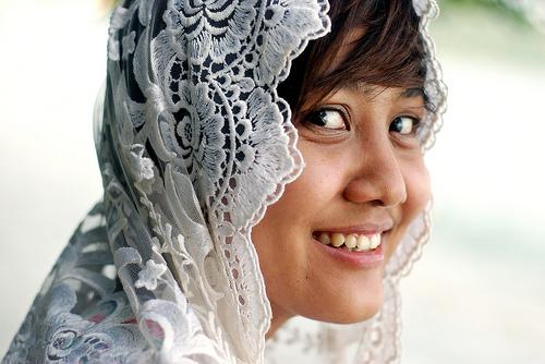 フリー画像| 人物写真| 女性ポートレイト| アジア女性| マレーシア人| スカーフ| 笑顔/スマイル|