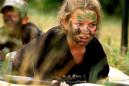 フリー画像| 戦争写真| 兵士/ソルジャー| 人物写真| アメリカ軍兵士| 女性兵士|